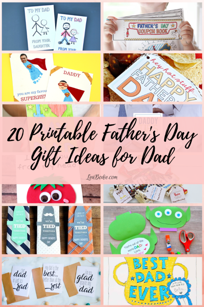 20 Printable Father's Day Gift Ideas for Dad
