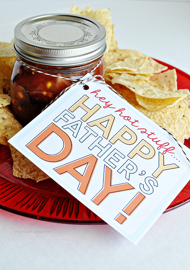 Hey Hot Stuff Father's Day Gift Tag