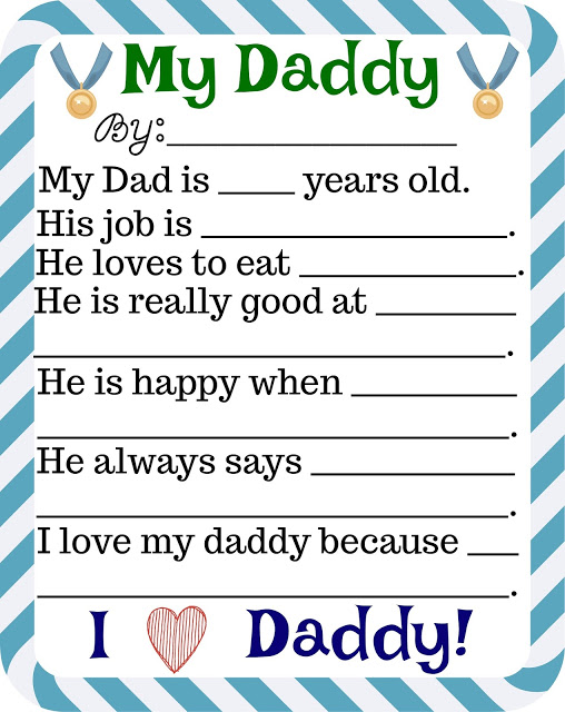 Printable Father's Day Story by Building Our Story