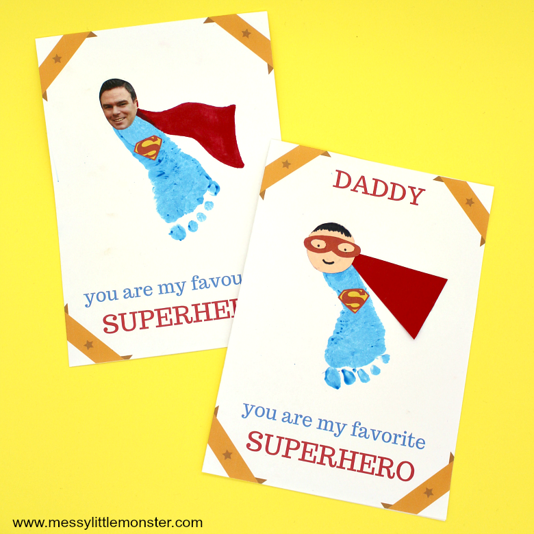 Superhero Father's Day Card