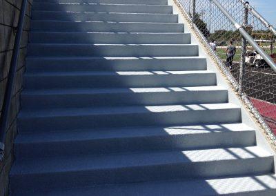 Floor Coatings - Stadium Steps