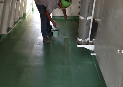 Floor Coatings - USCGC Gallatin Ship Walkway
