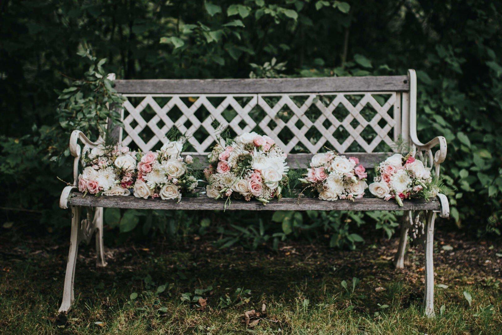 Beautiful woodland wedding bouquets