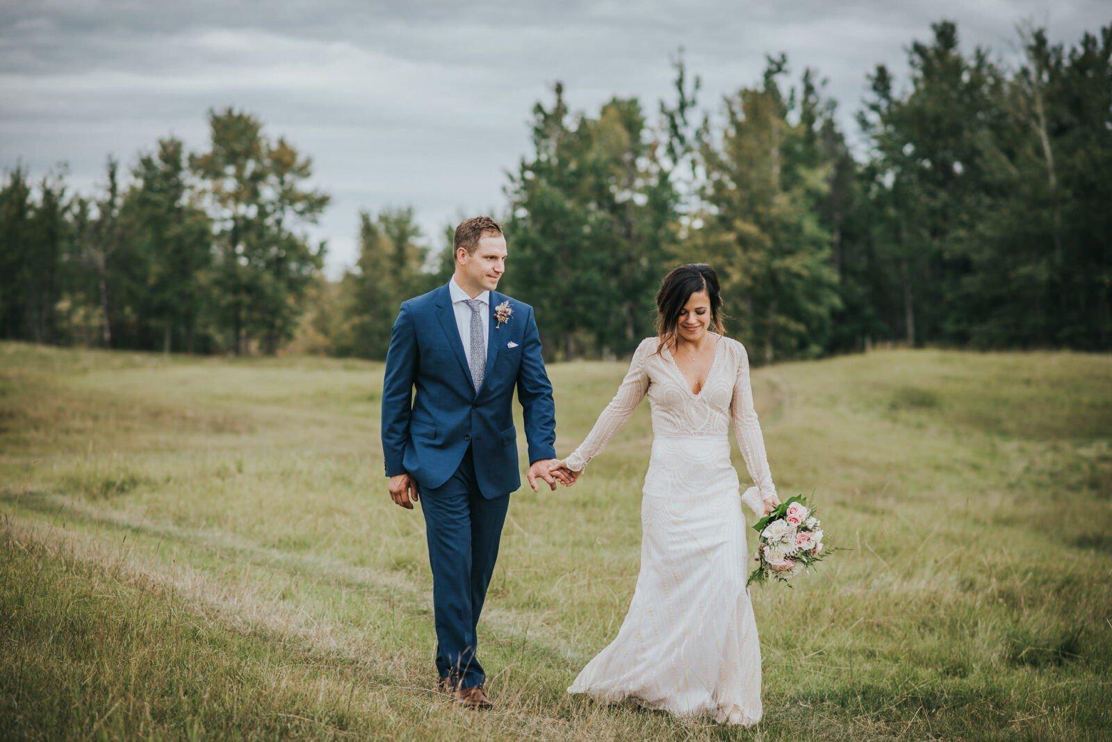 Newlyweds on the family land.