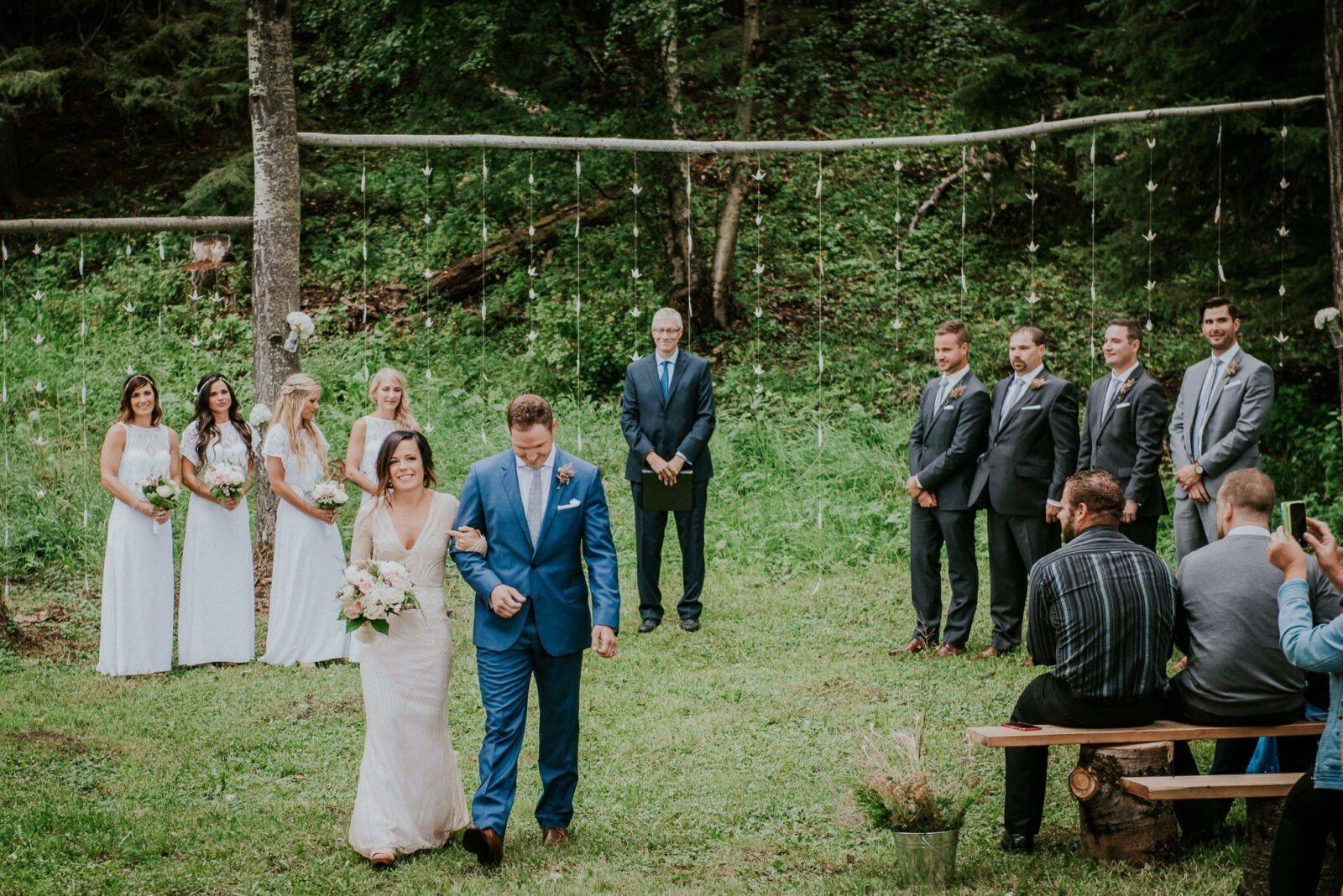 Wedding in the woods of Alberta.