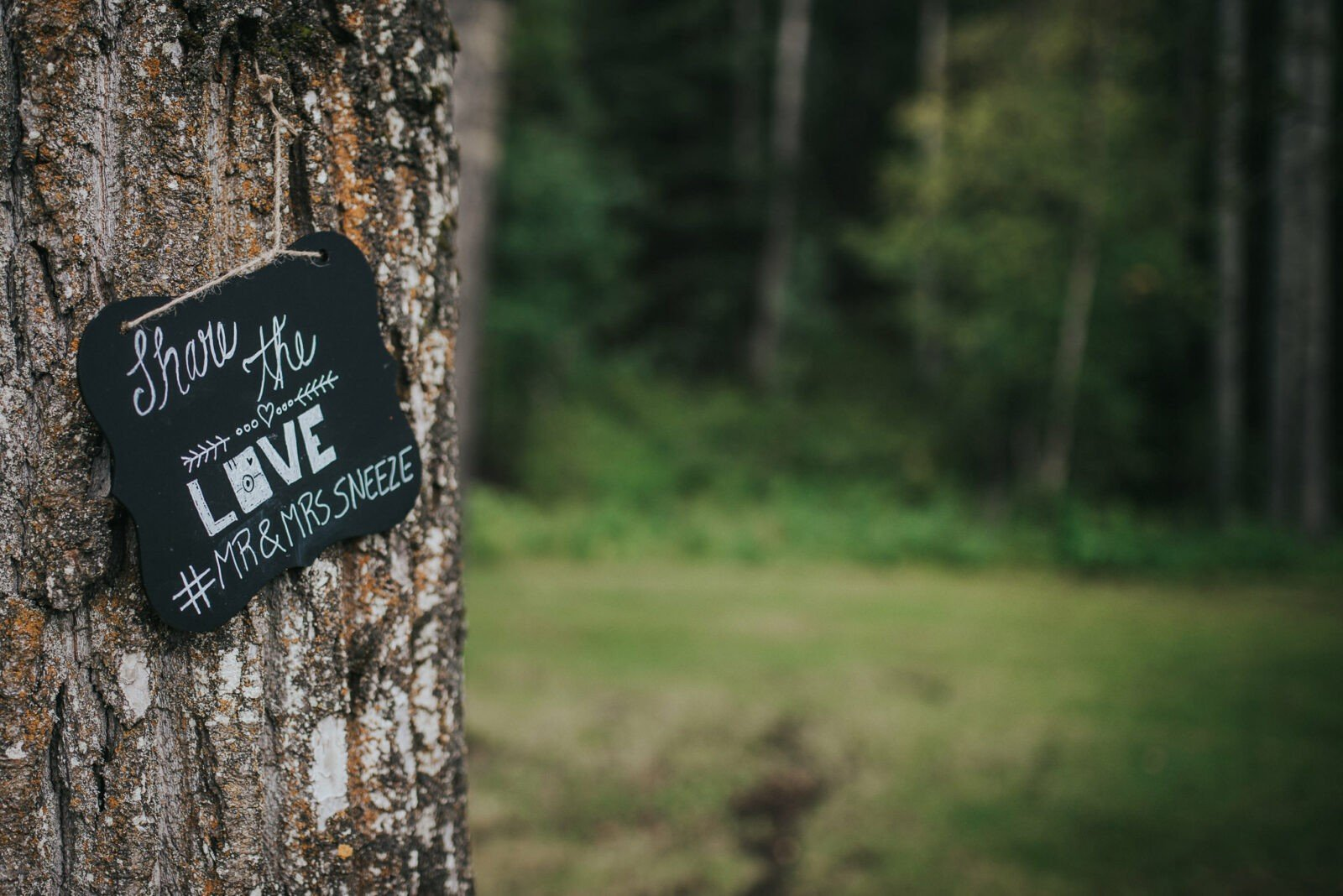 Sign for instagram info for the wedding pics.