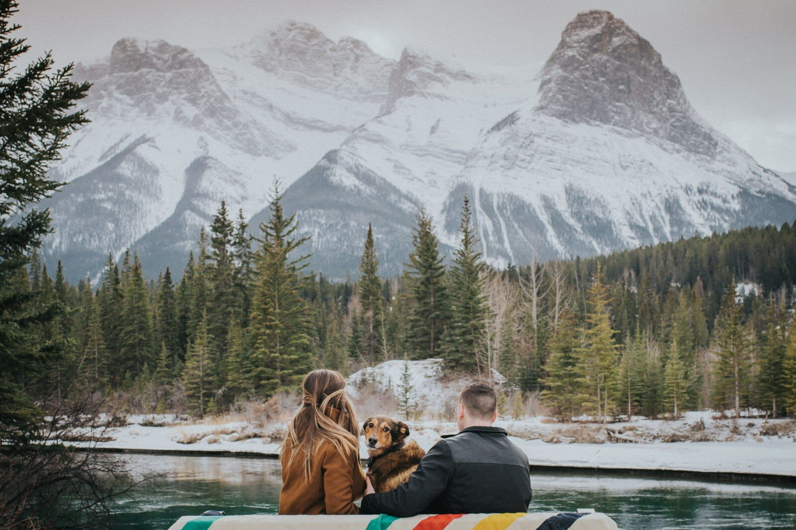 Canmore Winter Engagement Session