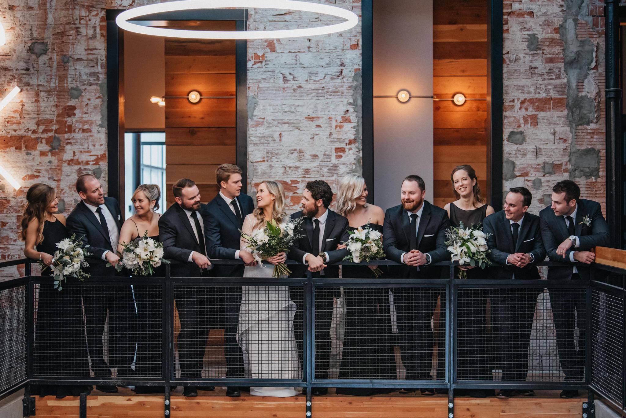 Foundry room wedding photography