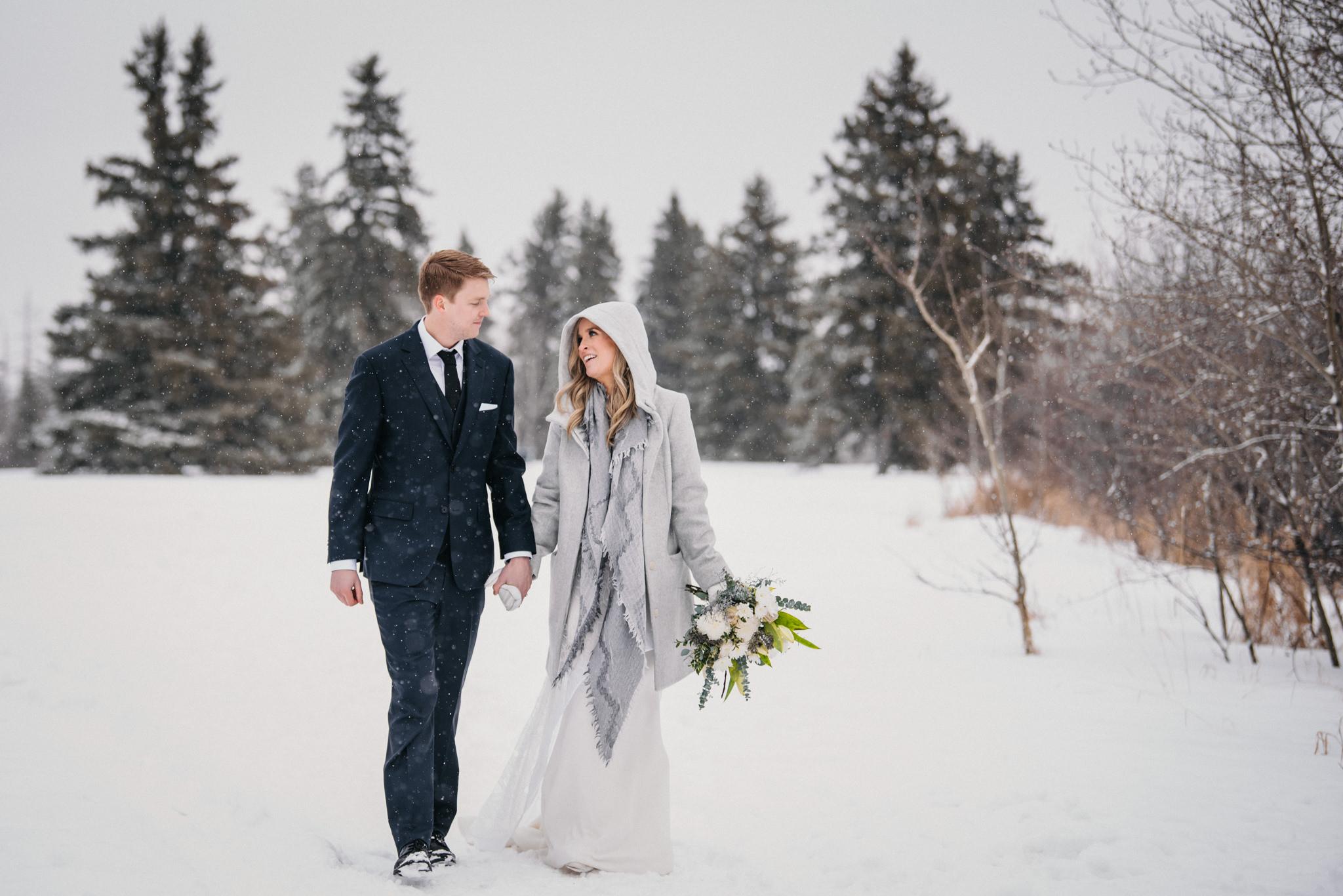 winter wedding edmonton alberta
