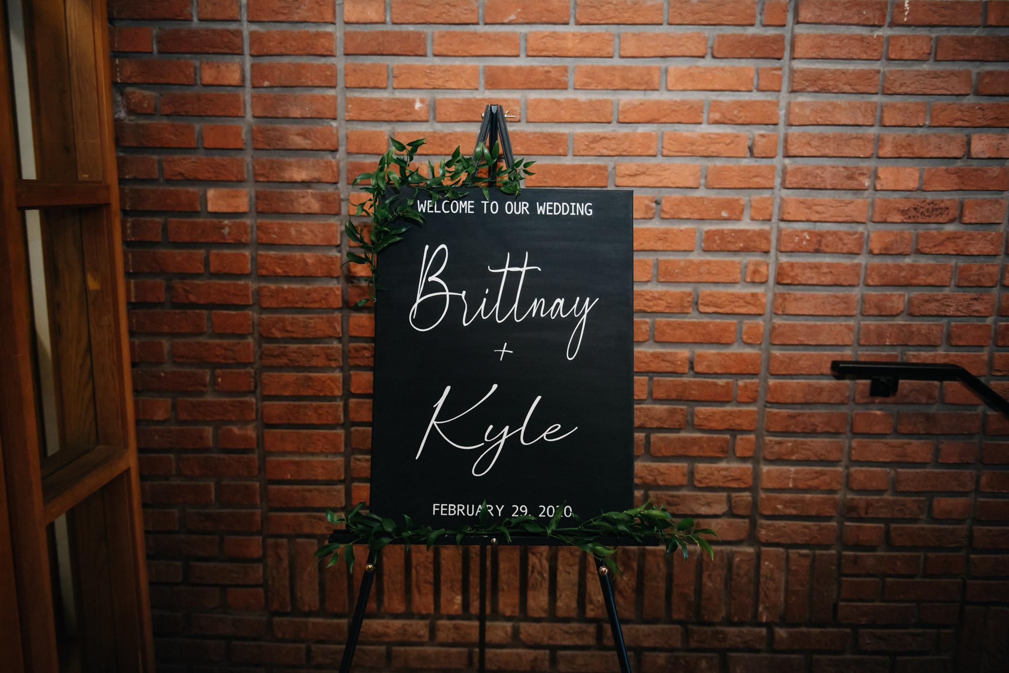 reception wedding sign