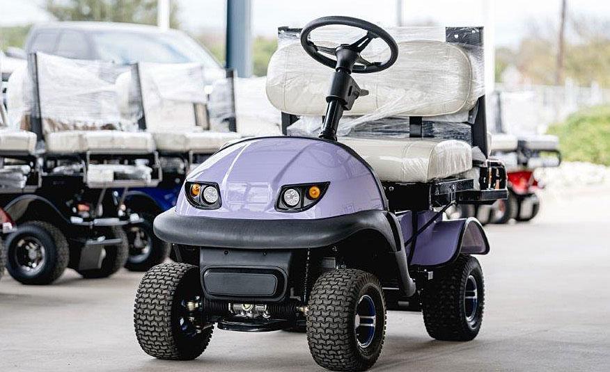 new purple rx5 golf cart