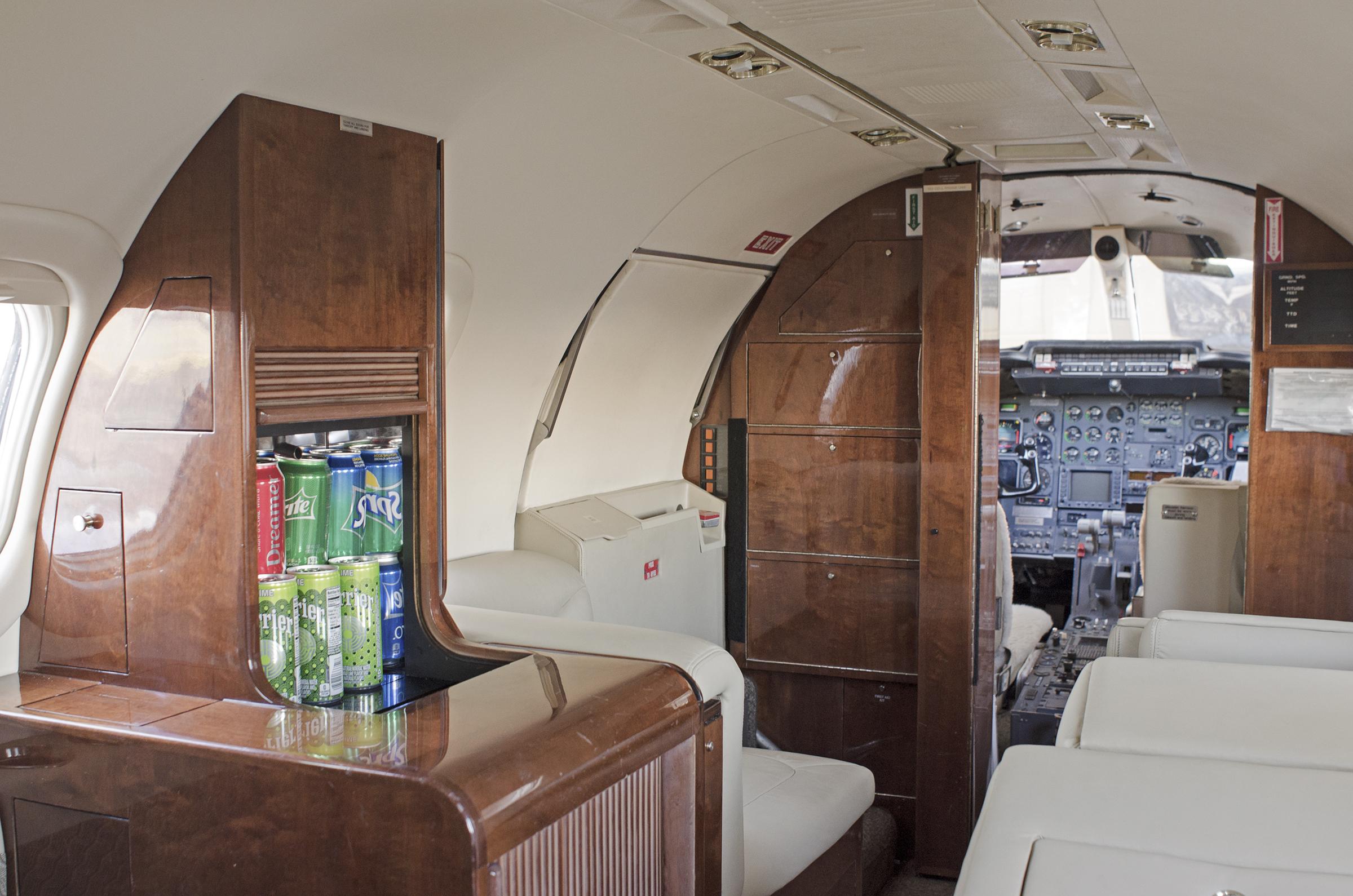 Lear 35-2 Interior Galley
