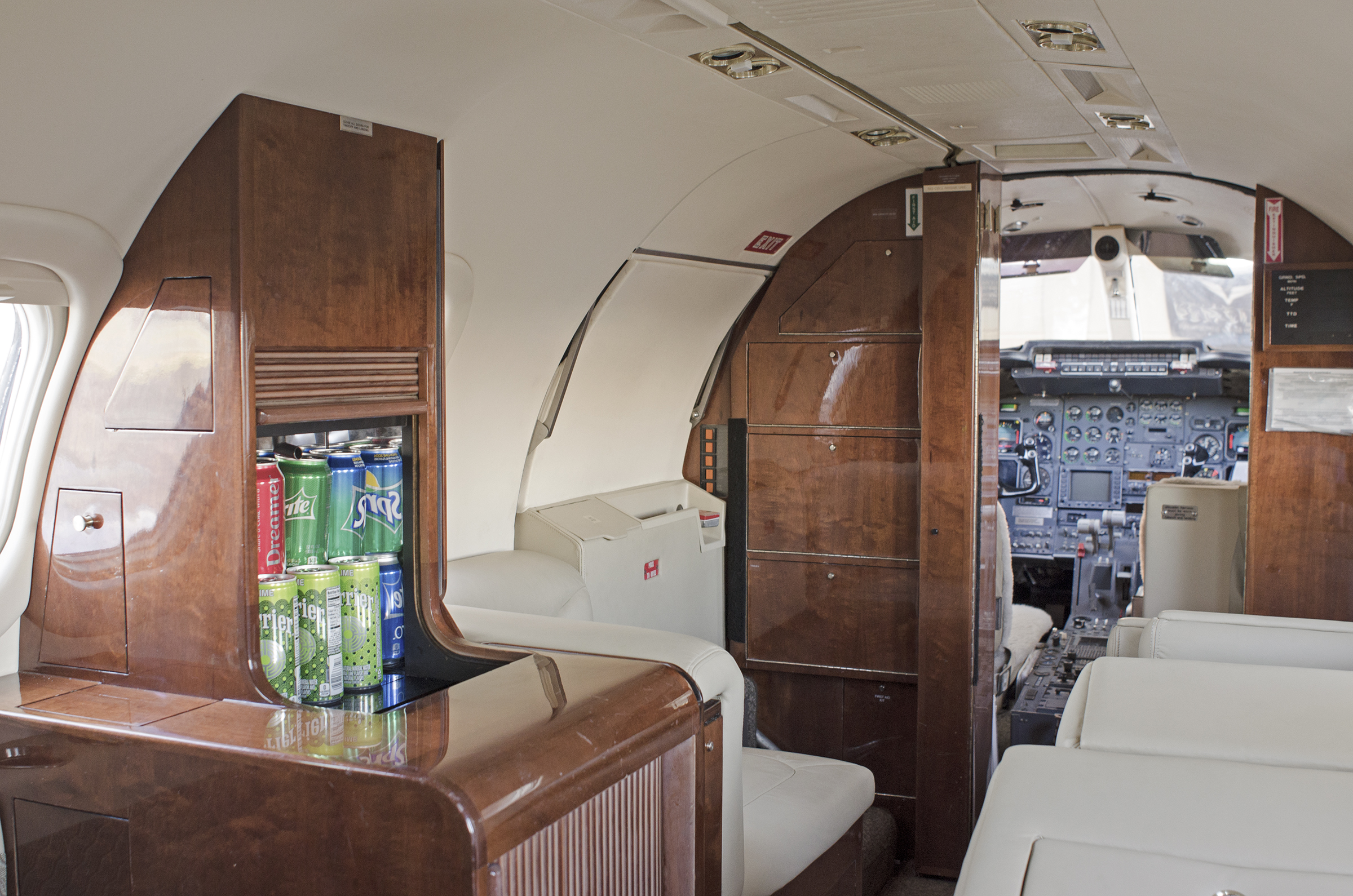 Lear 35-2 Interior Galley