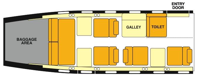 Lear 35 Floorplan