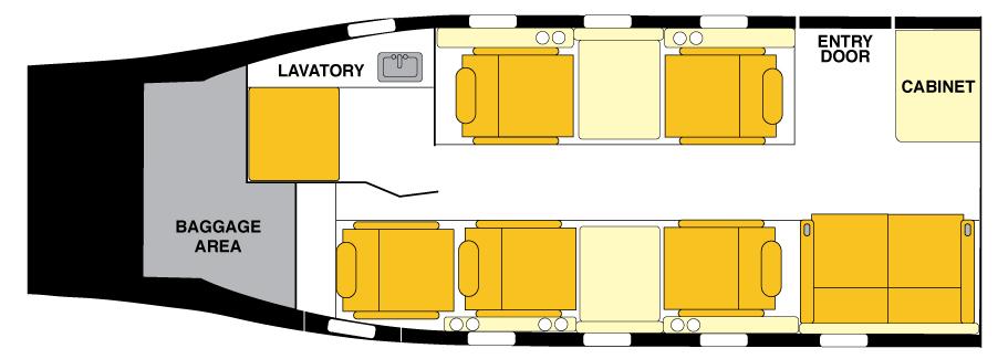 Lear 55 Floorplan