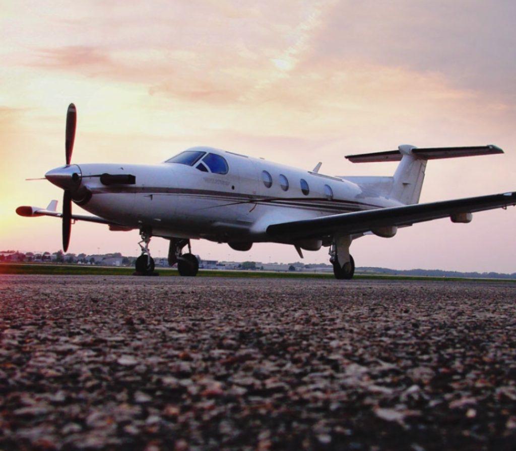 private jet on tarmac