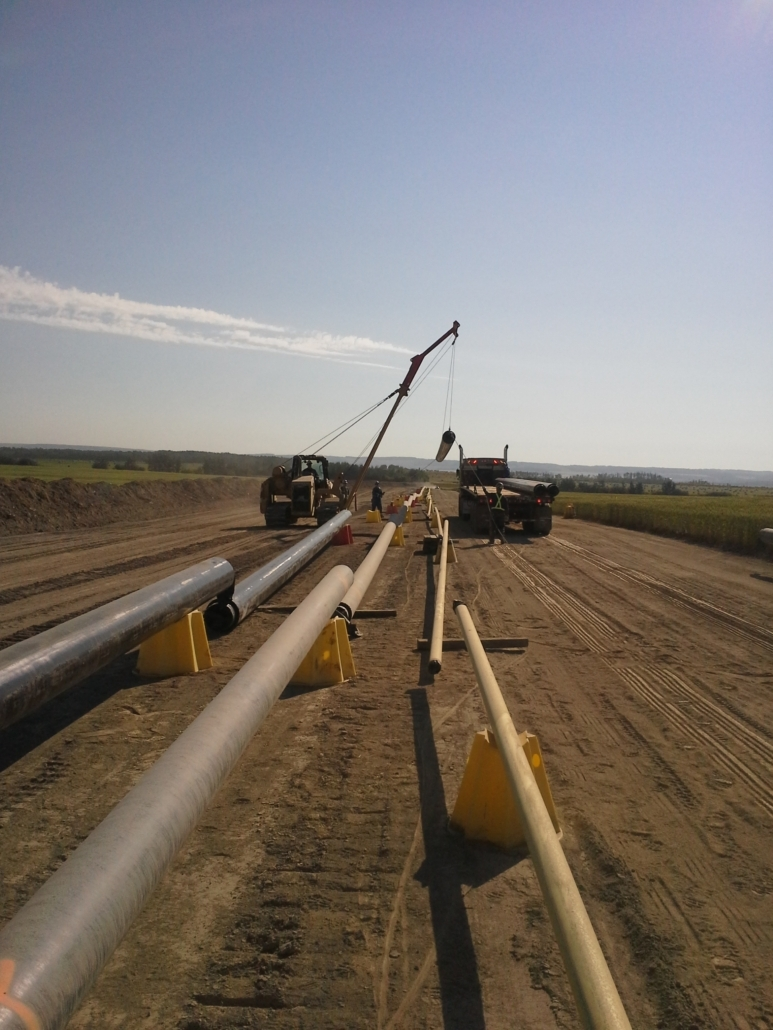 SureLine Projects Inc example of multi-line pipeline construction services