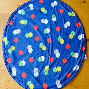 StoweyJoey was designed as a playmat for children, but how you use it is up to you! Many customers have found use for it as a blanket, a kitchen mat, an accent piece, and even a dog bed!