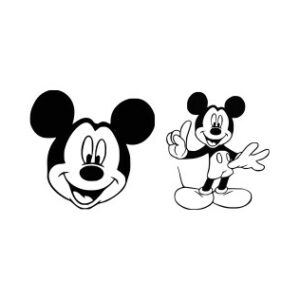 Free Mickey Mouse Svg Files, Dxf, Eps and Png Cutting Files Silhouette vinyl cut Files, for Cameo and Cricut Explore machines