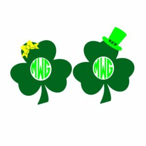 Free Three Leaf Clover Svg Files, Dxf, Eps and Png Cutting Files Silhouette vinyl cut Files, for Cameo and Cricut Explore machines