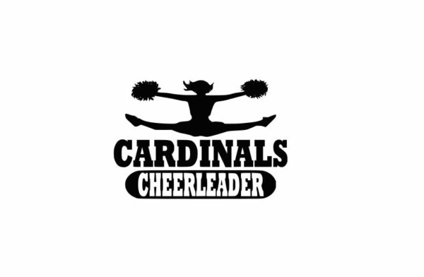 Cardinals Cheerleader svg, Cheerleader svg, Cheer svg images cut file include one .zip file with Svg, Dxf, Eps, Jpeg Files