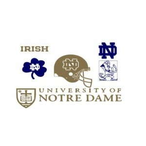 Notre Dame svg, Notre Dame Logo svg, Notre Dame Fighting Irish svg, Notre Dame Decals svg dxf eps files Football
