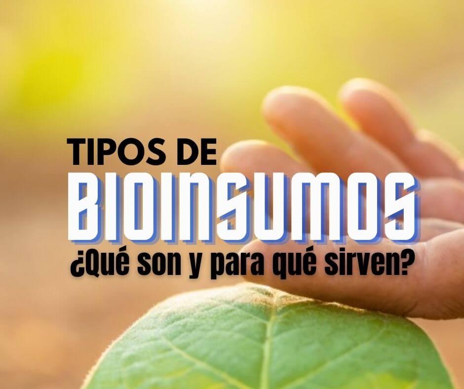 Tipos de bioinsumos, ¿Qué son y para qué sirven?
