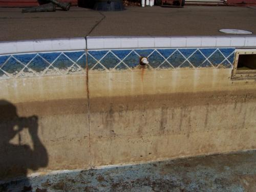 Rust Removal on Pool Before