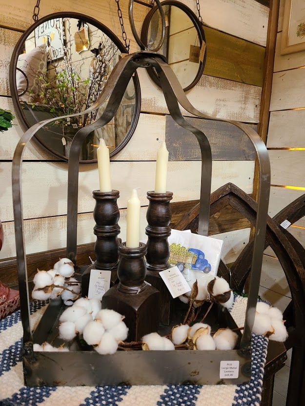 candle holders and mirrors