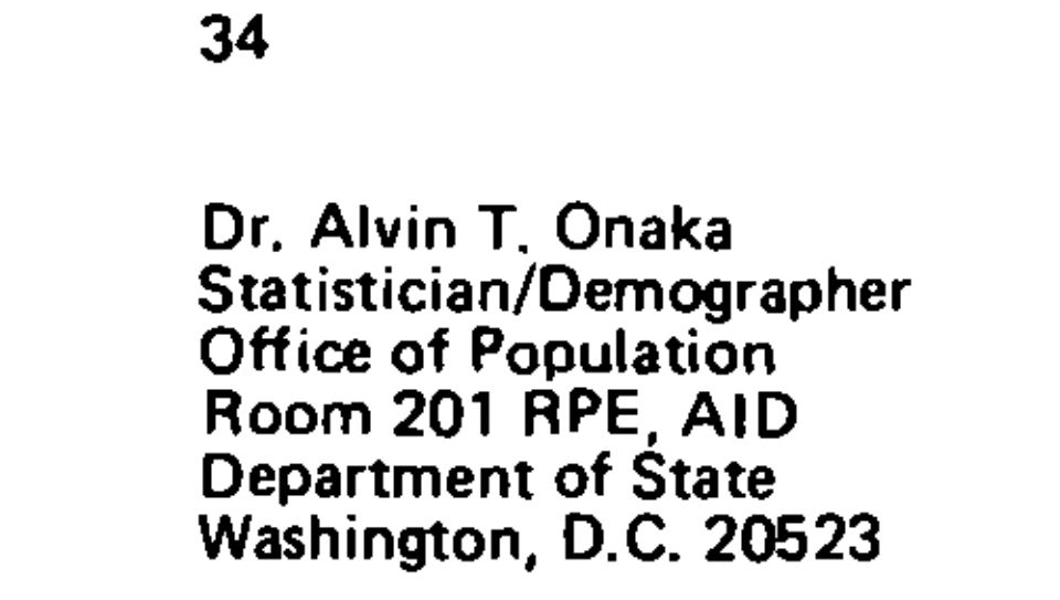 """Hawaii state registrar Alvin T. Onaka Ph.D, the Hawaii state registrar whose stamped signature appears to certify the White House PDF """"Certificate of Birth"""" for President Obama is a former USAID official."""