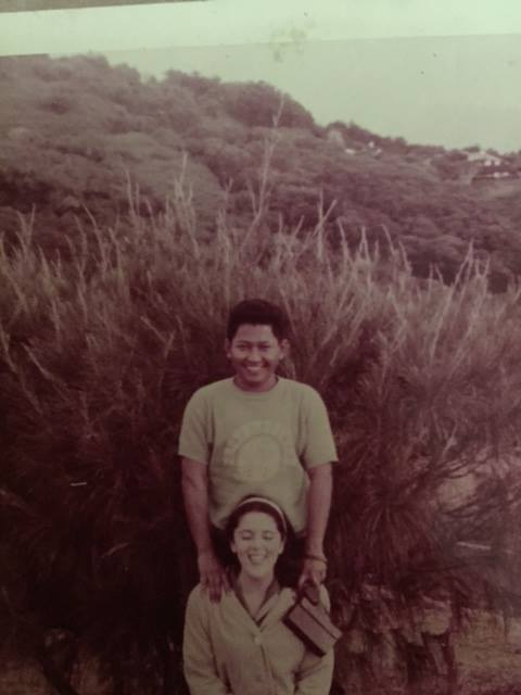 Photo appearing to show a very young Stanley Ann Dunham and Lolo Soetoro