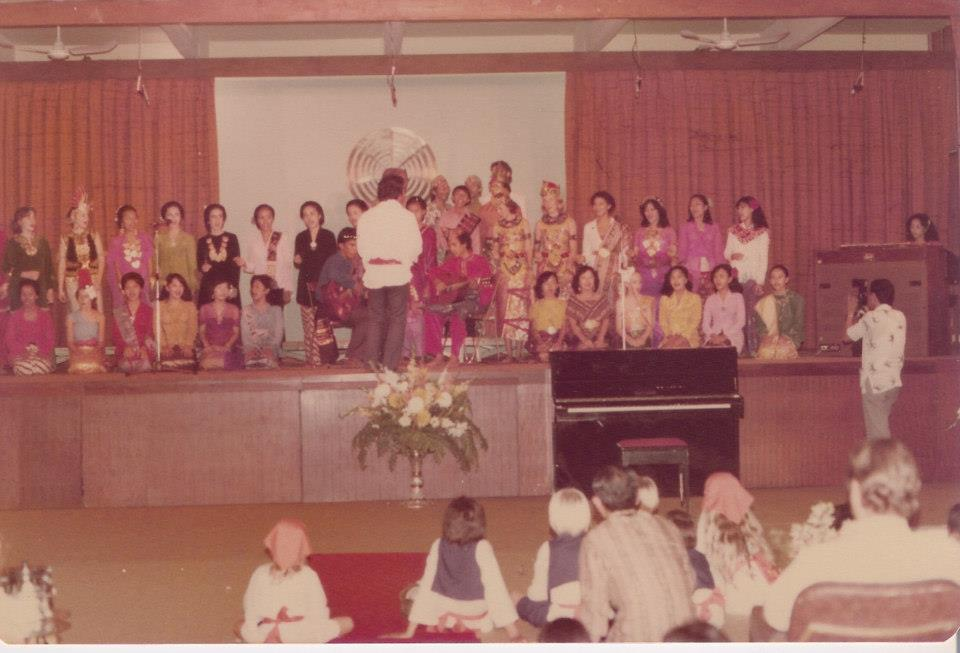 Group photo from Subud in Jakarta, Indonesia, likely 1970s