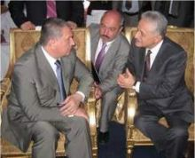 Igor Sechin with Gulftainer's Hamid Jafar