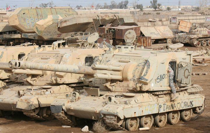 Old Iraqi tanks