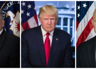 JOHN BRENNAN AND PRESIDENT DONALD TRUMP AND JAMES CLAPPER THE HAMMER