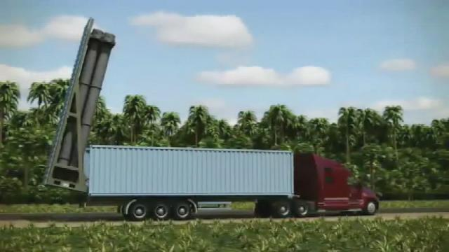 Semi-Truck with Russian Club-K container crusie missile launcher