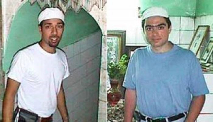 YAZD, IRAN -- 2000 -- NIAC founder Trita Parsi and the Jafars' employee, Crescent Petroleum Director of Strategic Planning Siamak Namazi, at a temple