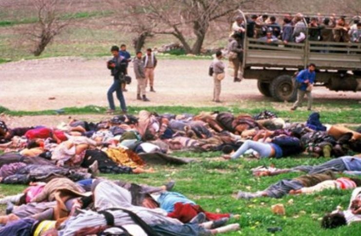 1988 Halabja Massacre Saddam Hussein regime used chemical weapons to kill over 5,000 Kurdish civilians and would an addition 10,000