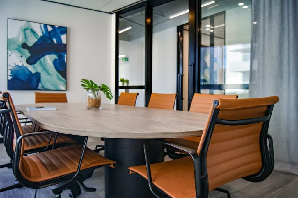 brown office leather chairs