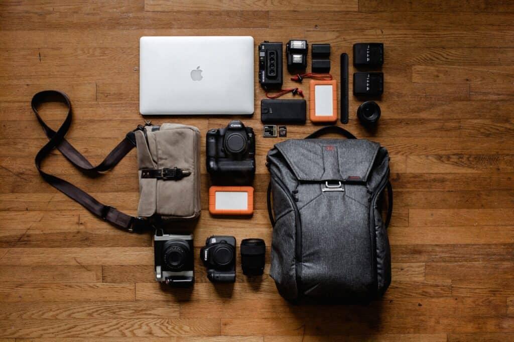 camera accessories near camera bag