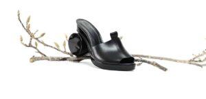 black sandal slide