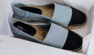 Brand new grey espadrilles