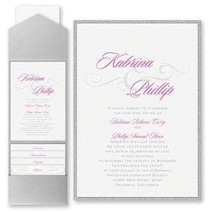Charming Type Pocket Invitation