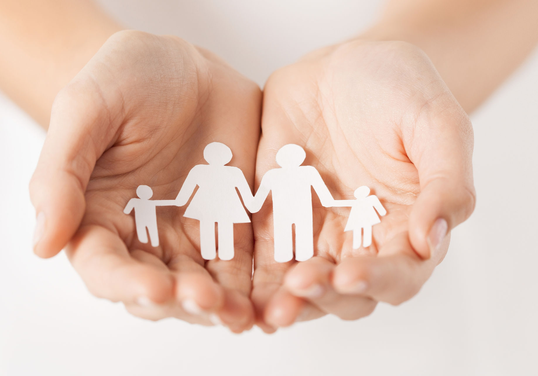 Family with hands