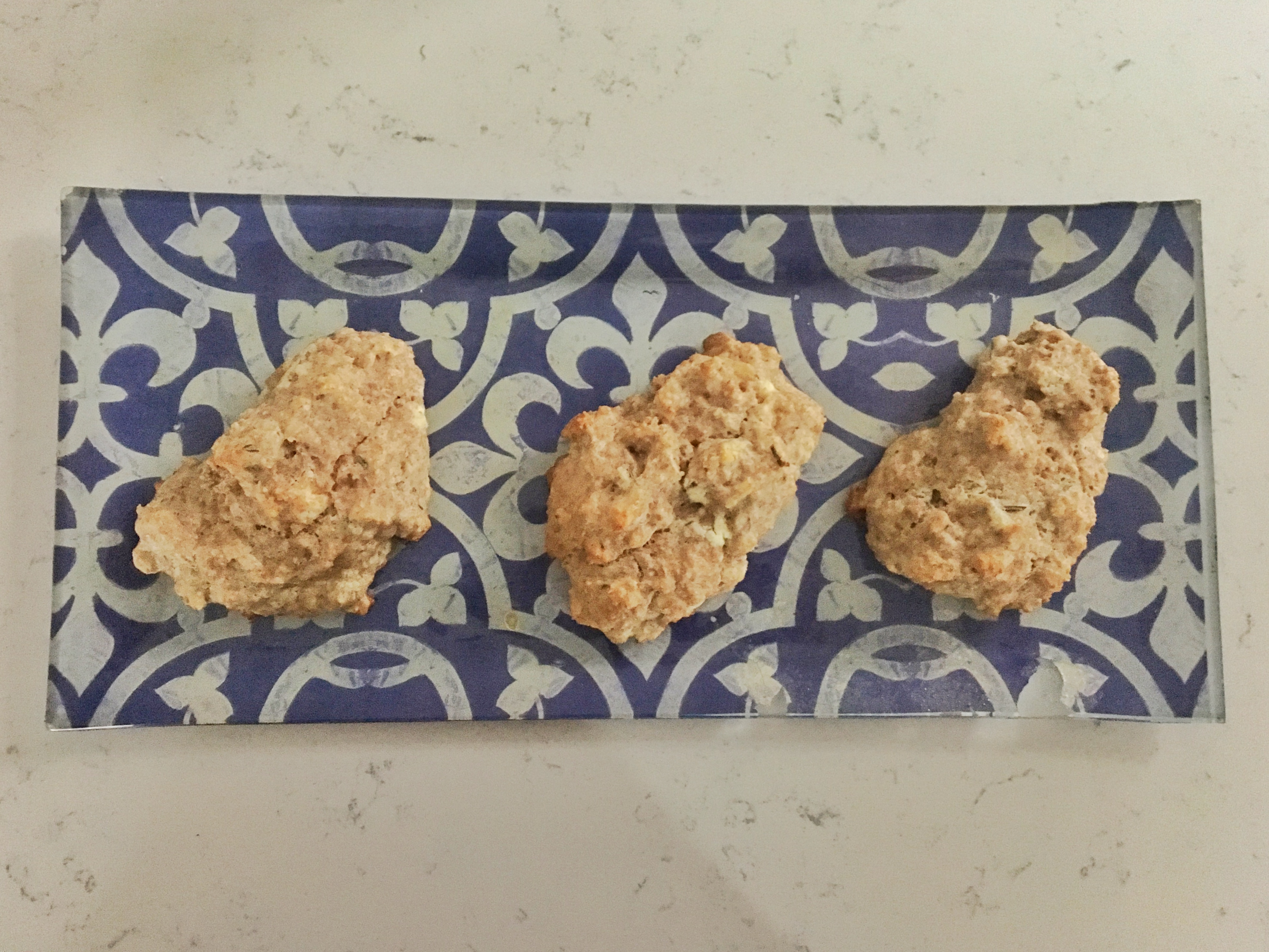Whole Wheat Sourdough Scones with Goat Cheese and Rosemary