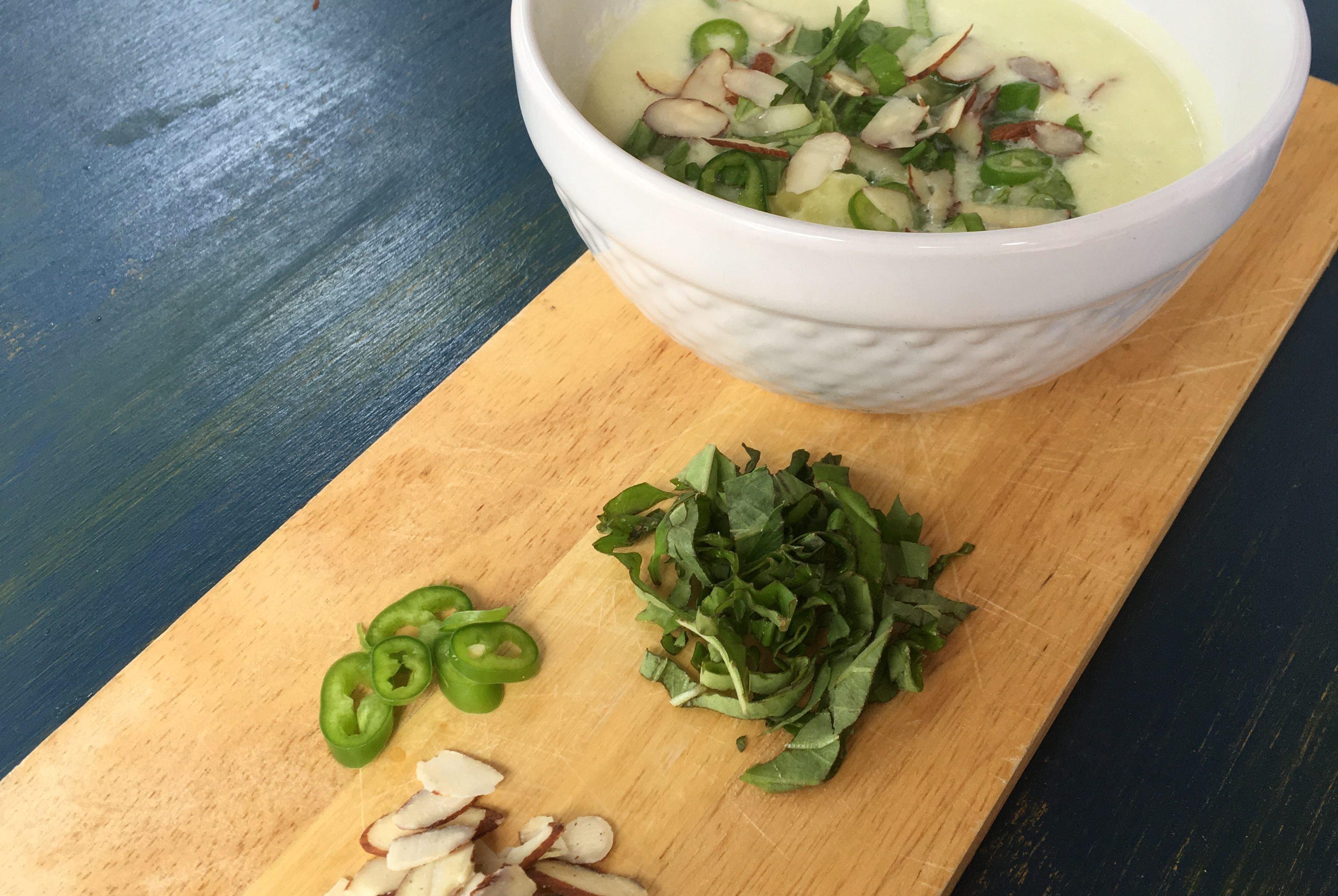 Cucumber-Kohlrabi Gazpacho