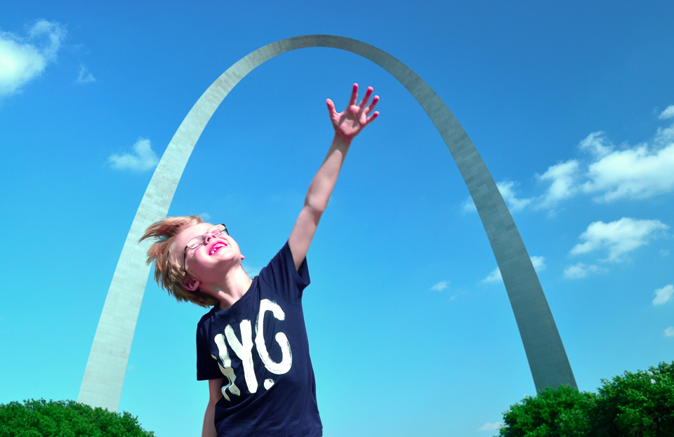 Jack at the Gateway Arch.
