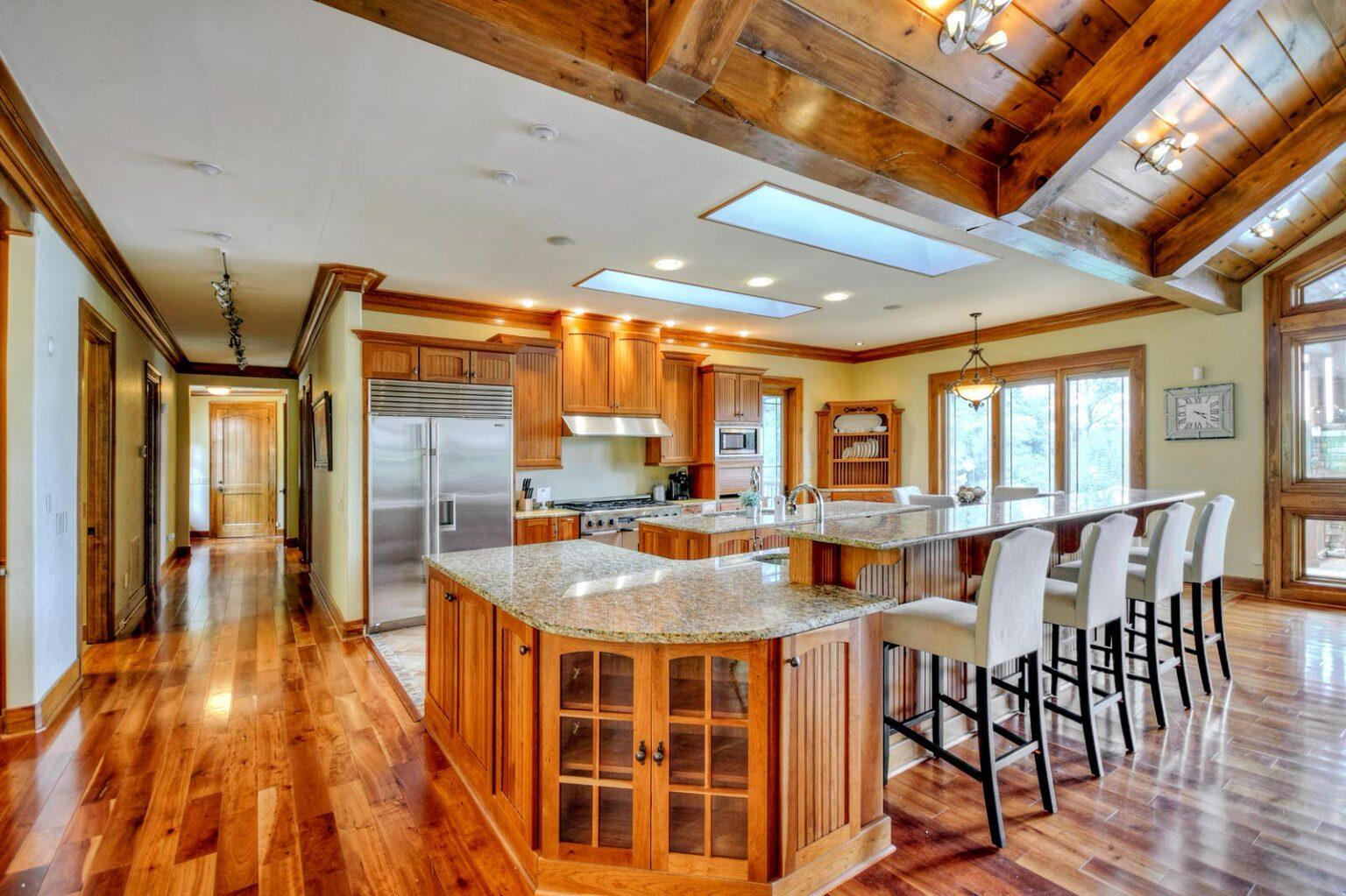 mountain mansion kitchen dining 2