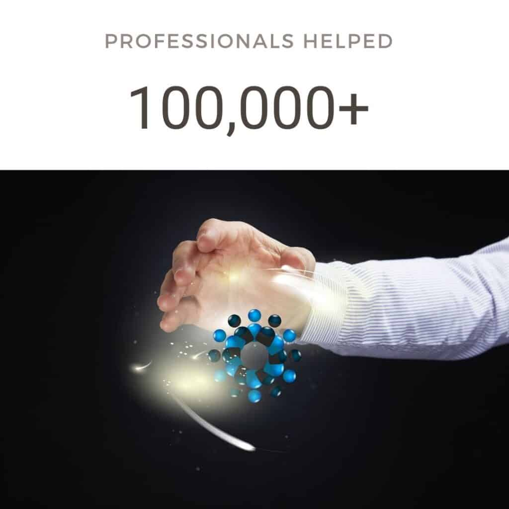 Professionals helped 100000+