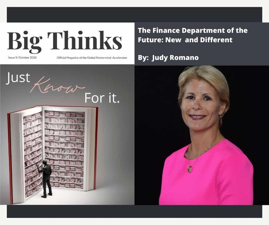 Big Thinks October The Finance Department of the Future New and Different by Judy Romano